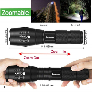 Image 5 - Super Bright  XM L T6 L2 XP L LED Flashlight Rechargeable Zoomable Linternas Torch Light by 1*18650 or 3*AAA Lamp Hand Light z50