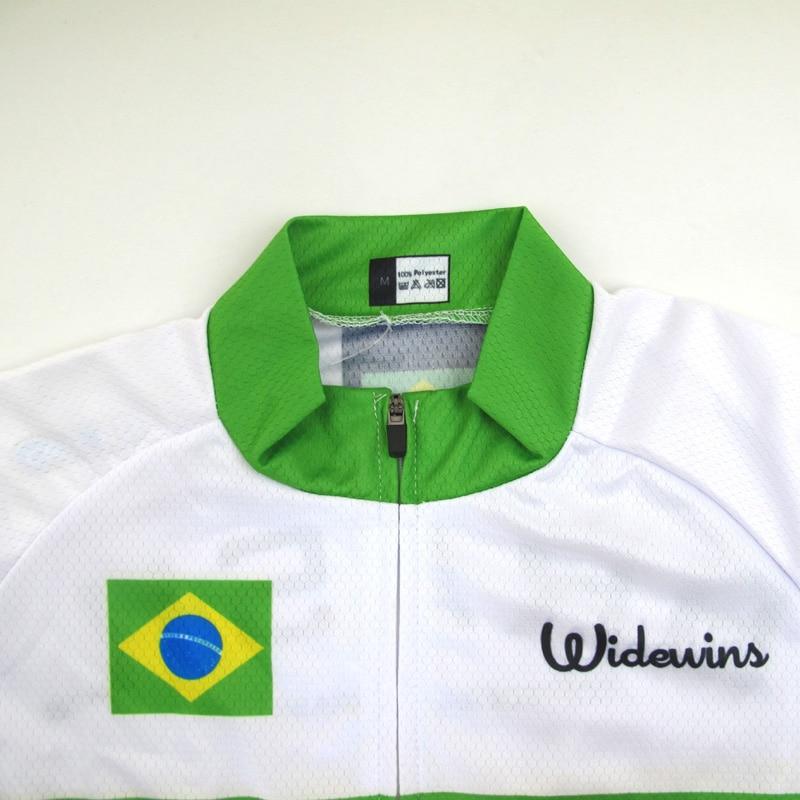 Ropa Cycling Jersey Ciclismo դիզայն BRAZIL- ի հետ logo - Հեծանվավազք - Լուսանկար 3