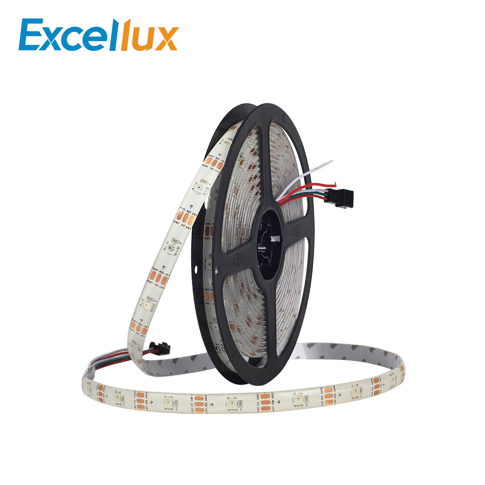 10mm 5V 1M Led Strip Light 5050 RGB WS2812 2812B 30LEDs 60LEDs Waterproof IP30 IP65 Colorful Tape Lamp For Home Decoration Light