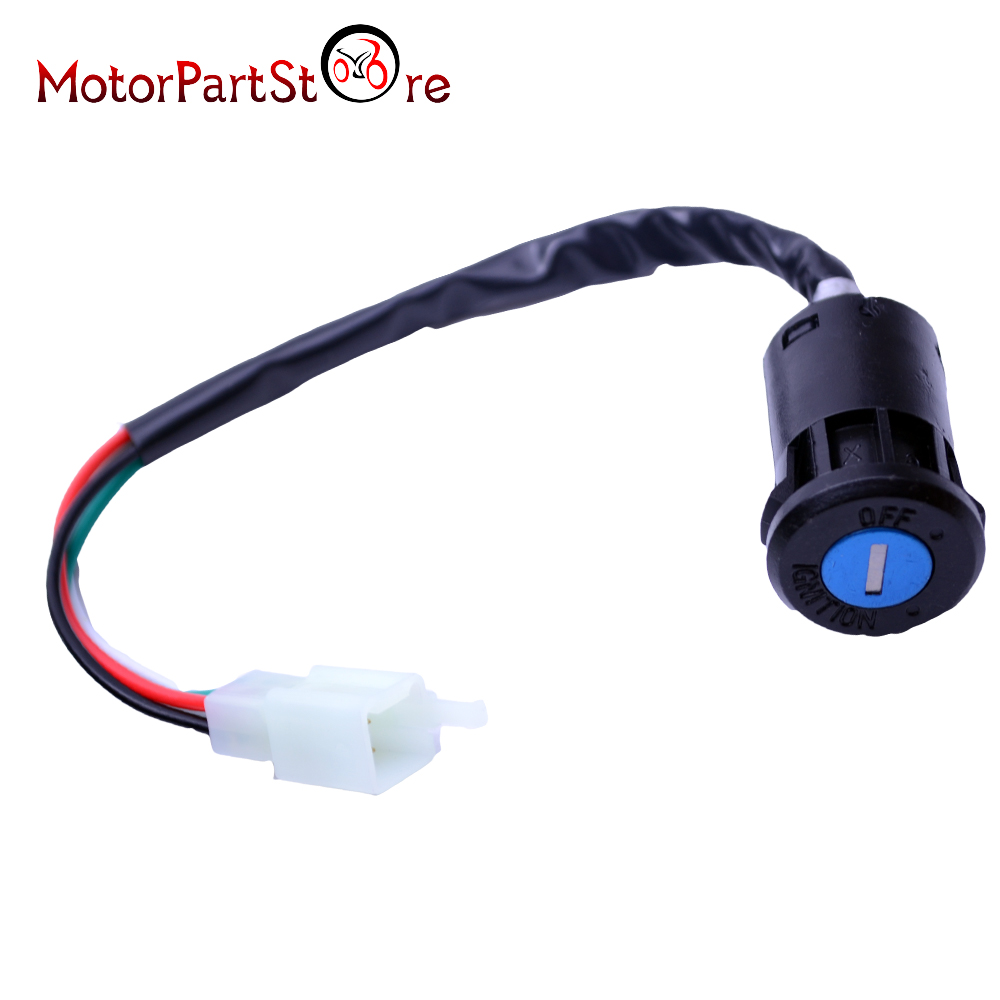 4 Pin Wires Ignition Switch Key For 50cc 70cc 90cc 110cc 125cc Super Atv Wiring Pocket Dirt Bike