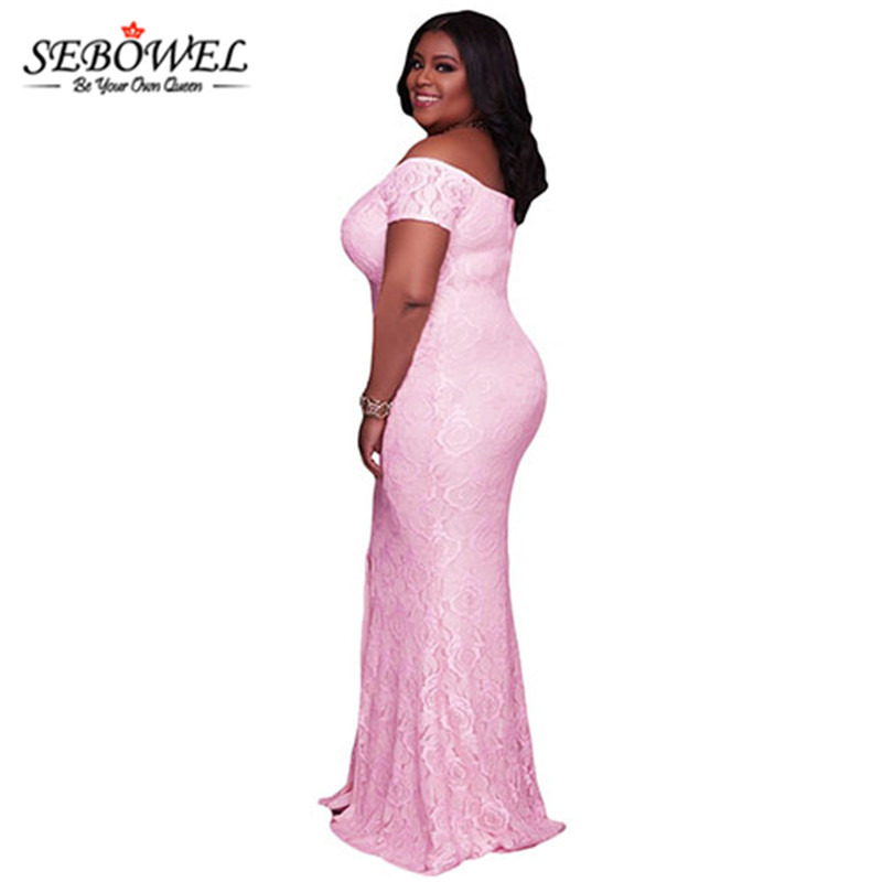 Pink-Plus-Size-Off-Shoulder-Lace-Gown-LC61602-10-3