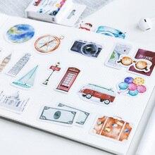 45 pcs/box Gift of life Creative mini paper sticker DIY decoration Scrapbooking Label Seal Sticker kawaii Stationery