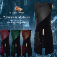 3XL Male Halloween Cosplay Leather Vest Armor Medieval Larp Knight Warrior Costume Armour Outfit Roman Archer Tabard Green Coat