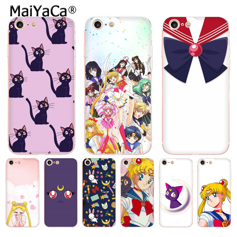 Half-wrapped Case Beautiful Maiyaca Sailor Moon Luna Cat New Arrival Fashion Phone Case Cover For Iphone 8 7 6 6s Plus X 10 5 5s Se Xr Xs Xs Max Cover To Prevent And Cure Diseases