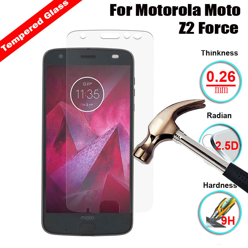 9H Screen Protective Film Tempered Glass Case For Motorola Moto Z2 Z3 Play G2 G3 G4 G5 G5S G6plus X4 E4 E5 G7 Power Protection