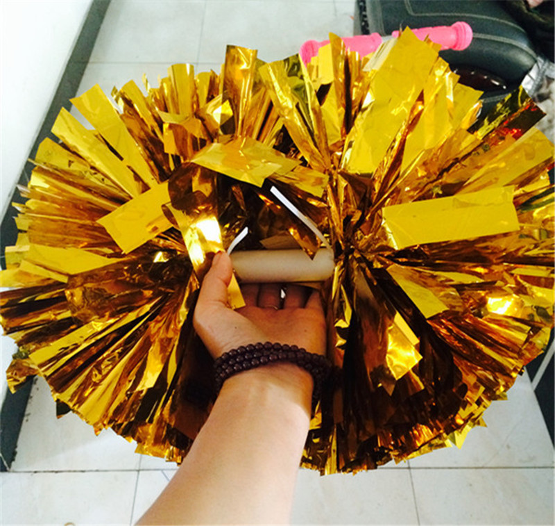New Arrival Cheerleading Pom Poms Cheerleader Supplies Fake Flowers for Game Dance Party Use Pompoms Competition Ball Flower A01