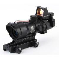 4x32 волокно голографический прицел Открытый Охота тактический Красный точка зрения с креплением для стрельба