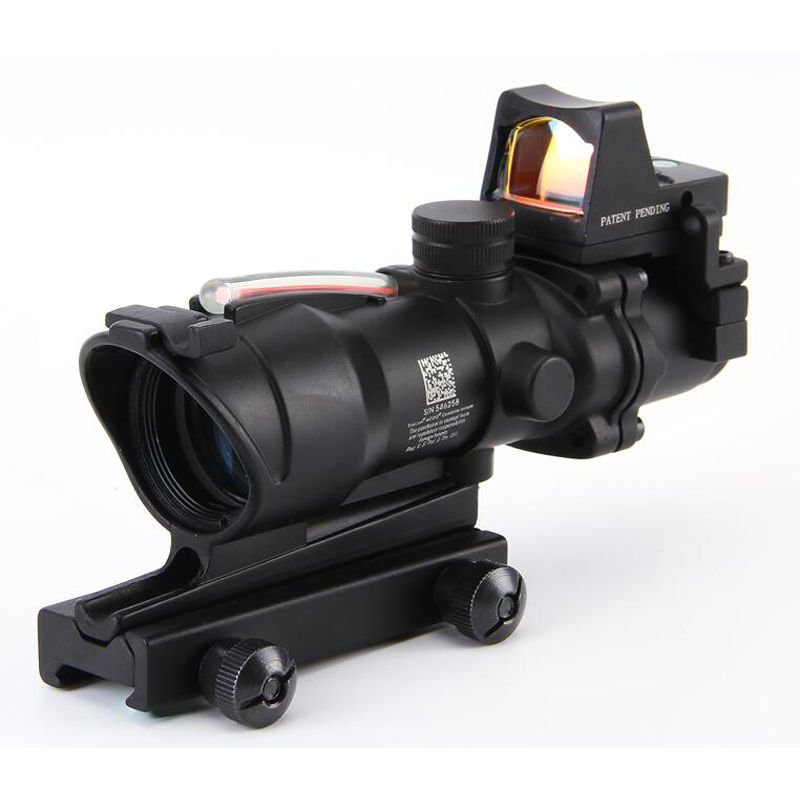 4x32 Fiber Holographic Sight Outdoor Hunting tactical Red dot sight With Mount For Shooting