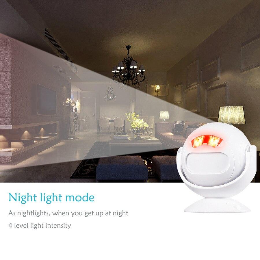 SMATRUL Wireless Doorbell Welcome IR Infrared motion sensor Alarm Cute mini home shop Door Bell Chime night light Deaf 2.4