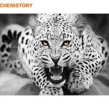 Набор для рисования по номерам на холсте леопард 40 х50 см