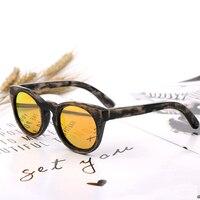 Kids Bamboo Round Sunglasses Wooden Polarized Sun glasses For Children UV400