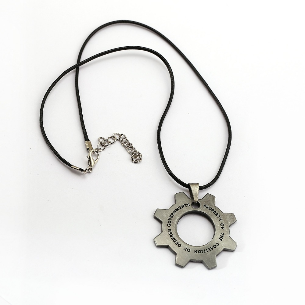 Game Gears of War Necklace Gear Shape Pendant Fashion Rope Chain Necklaces Women Men Charm s