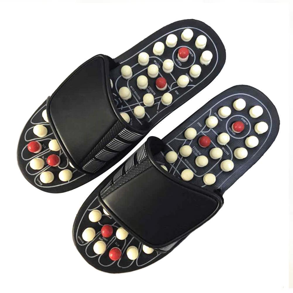 Acupuncture Healthy Relaxation Man And Women One Pair Foot Slipper Sandals Reflex Stress Rotating Foot Massage Shoes 1