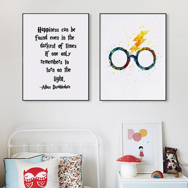 Harry Potter Glasses Art Decor Print And Poster Harry Potter Quote