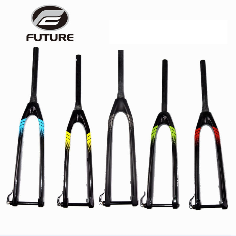 2017 Future carbon fiber MTB fork thru axle 15mm mountain bike Rigid fork 26er /27.5ER/ 29er for bicycle parts bicycle fork 26 27 5 29er mountain bicycle fork full carbon mtb fork with axle through dropout system hk cf 013