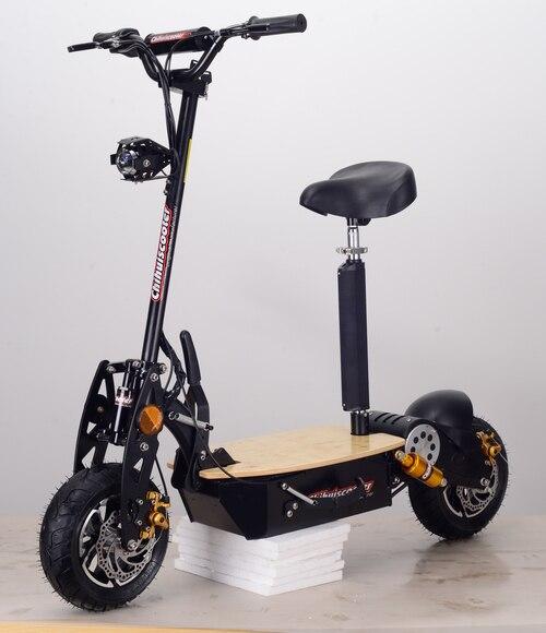 Nouveau 1500 w 48 v BLDC Pliable Électrique Scooter avec 90/65-6.5 Pneu/Aluminium Jante et Nouveau flash (Chihui/Tmax Scooter)