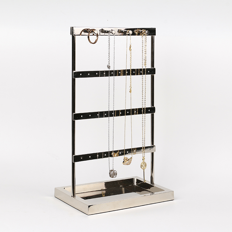 New silver jewelry display stand, earrings, hand necklace, ring storage rack, home dressing table, desktop decoration
