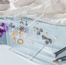 Купить с кэшбэком New Acrylic Jewelry Box Earring Holder And Jewelry Organizer Earring Organizer Stand Can Hold About 135 Pairs Various Earrings