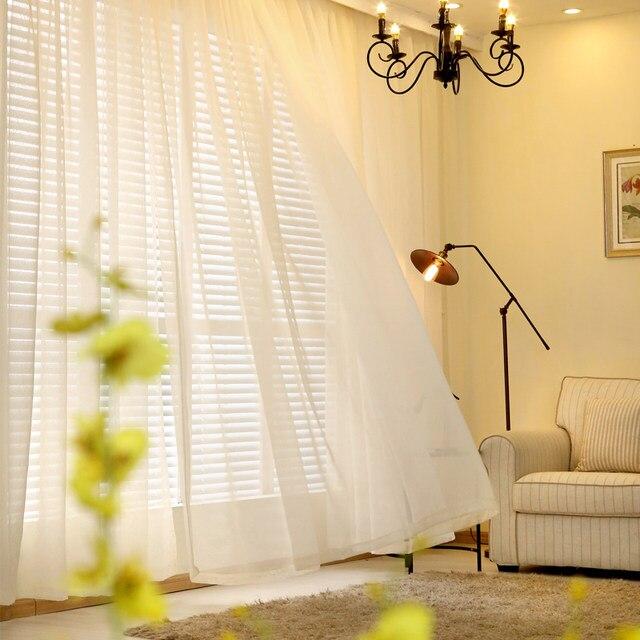Organza Vorhänge Für Wohnzimmer Farben Sheer Hause Moderne Schlafzimmer  Dekorationen Fenster Tüll Voile Vorhang Panel (B509)