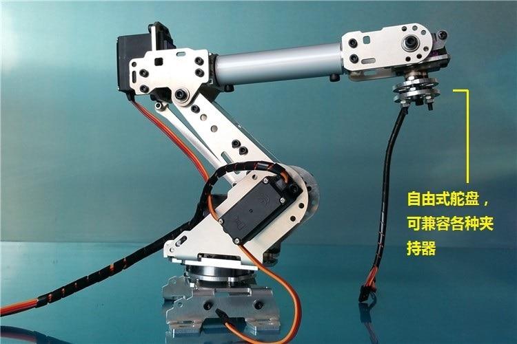 Wenhsin Abb Industrial Robot A688 Mechanical Arm 100% Alloy Manipulator 6-Axis Robot arm Rack with 6 Servos полюс abb 1sca105461r1001