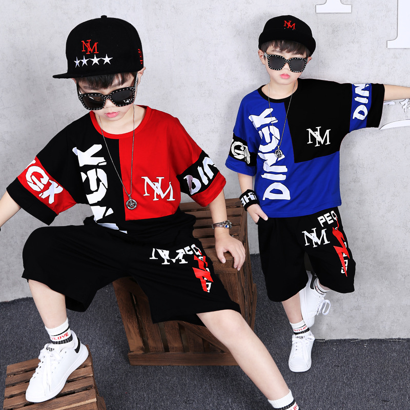 Toddler Boy Clothes Boys Summer Set Child Children Outfit Boutique Fashion Hip Hop T-shirt + Shorts 4 to 15 YearsToddler Boy Clothes Boys Summer Set Child Children Outfit Boutique Fashion Hip Hop T-shirt + Shorts 4 to 15 Years