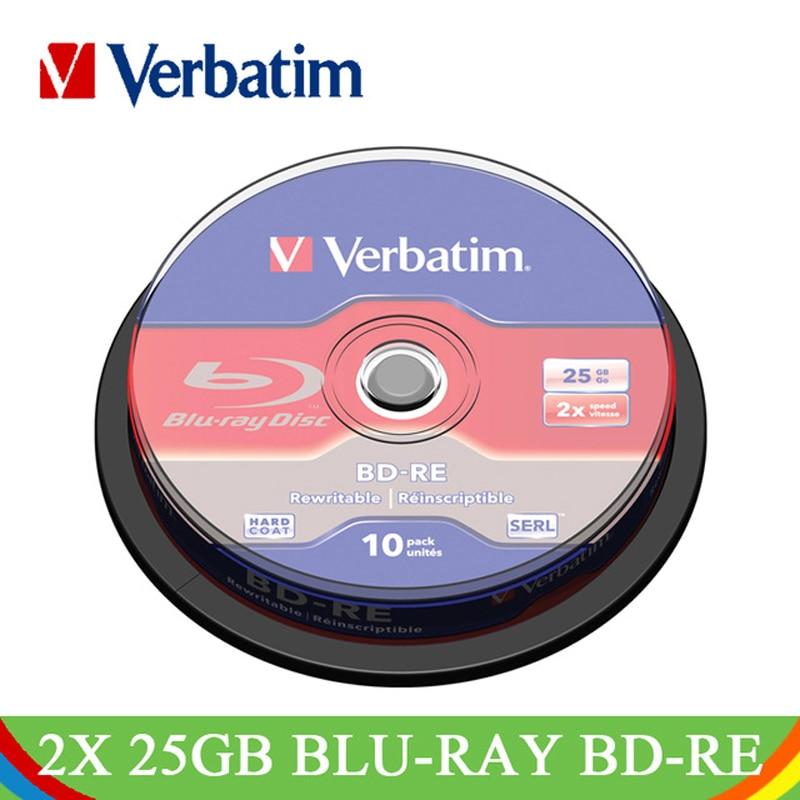 Symbol Der Marke Verbatim 2x25 Gb Blu-ray Bd-re Blank Disc Branded Wiederbeschreibbare Weiß Druckbare Media Blau Ray Lot Disc Compact Daten Lagerung 43694 Schrumpffrei Externer Speicher Computer & Büro