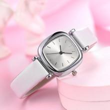 2019 новые модные тонкие кожаные часы маленькие квадратные простые Стильные часы легкие повседневные женские часы Reloj Mujer Часы Relogio Feminino