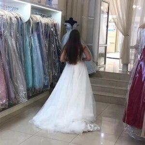 Image 5 - Elegant Mermaid Wedding Dress With Detachable Train Appliques Tulle Skirt 2019 New Vestido De Novia Sweep Train Bridal Dress