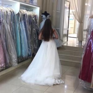 Image 5 - Élégante robe De mariée sirène avec détachable Train Appliques jupe en Tulle 2019 nouveau Vestido De Novia balayage Train robe De mariée