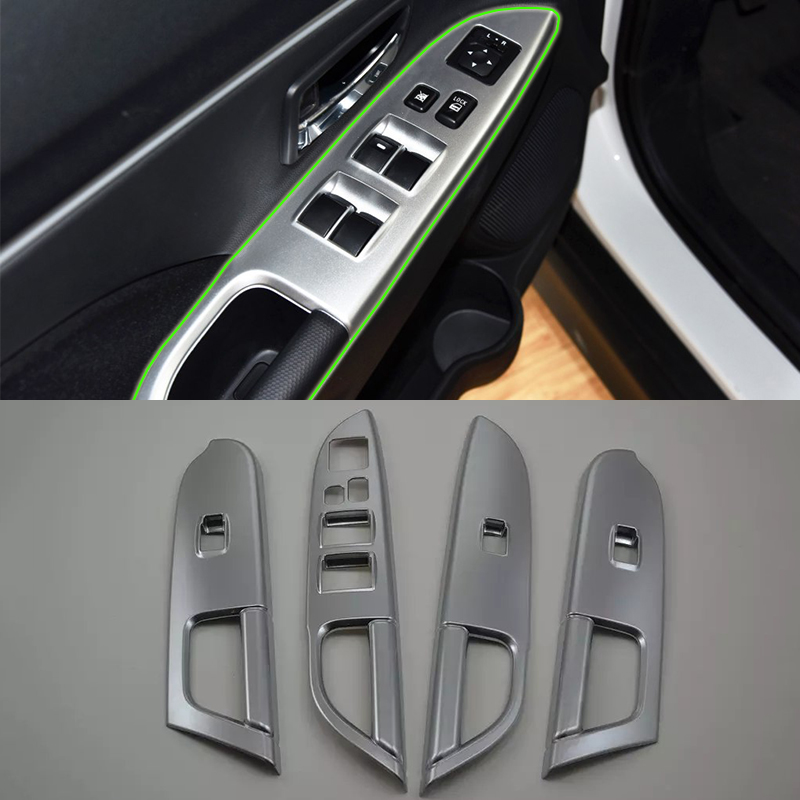 ABS matte silver window rise cover 4pcs Car Styling accessories For Mitsubishi 2013 ASX