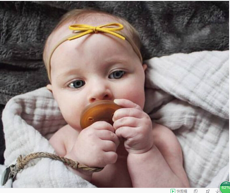 Leather Braided Soother Infant Pacifier Clips Baby Nipple Holder Chain
