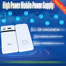 Free shipping 21v out put mobile note book power bank box 18650 battery case box section 6 universal treasure to DIY