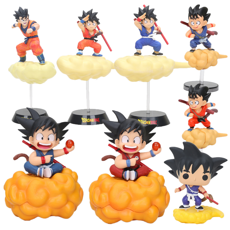 9-28cm Dragon Ball Super Son Goku Action Figure Cloud Goku Figurines Childhood Goku Figure Goku Dragon Ball Model Toy Doll