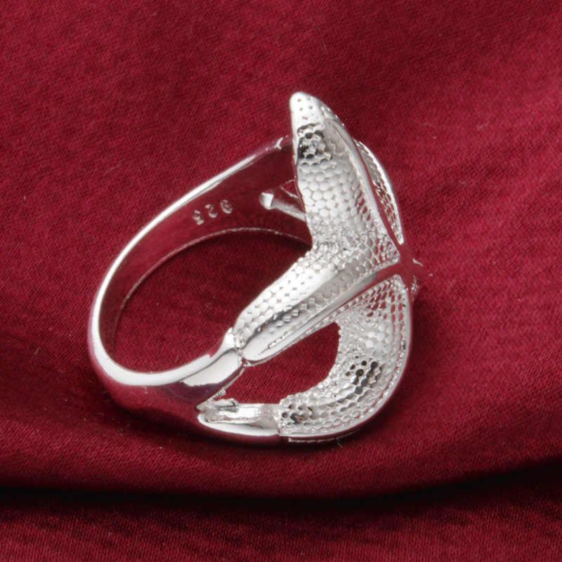 Кольцо Морская звезда кольца для мужчин и женщин 925 пробы Серебряные ювелирные изделия жеские кольца Femme Mujer Aneis Ювелирные Изделия Bague Anelli