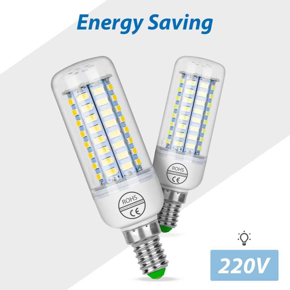 GU10 LED โคมไฟ E27 หลอดไฟ LED 220V หลอดไฟ Led E14 เทียน SMD 5730 หลอดไฟสำหรับโคมไฟโคมระย้า 24 36 48 56 69 72LEDs