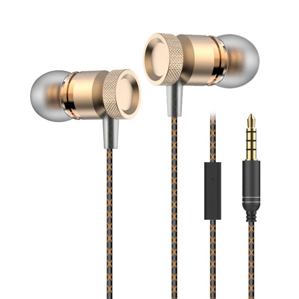 Super Bass Earphones Headphone Metal-Ear Mobile Computer MP3 Universal 3.5mm Microphone DJ Hifi Earphone for Phone