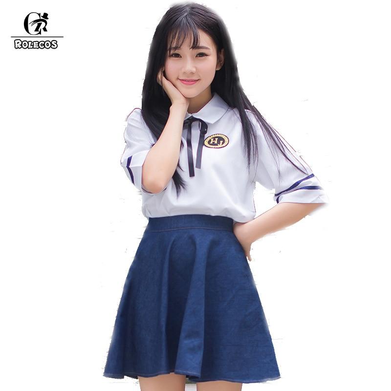 Japanese cosplay School uniform men and women Summer clothing for school uniforms escolar costume for Unisex summer Sailor suit
