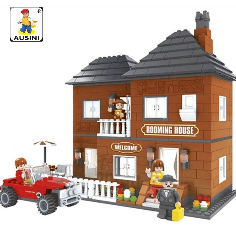 Ausini 533pcs Model Building Blocks City Rooming House 3d Blocks Educational Toys For Children Compatible Lepin