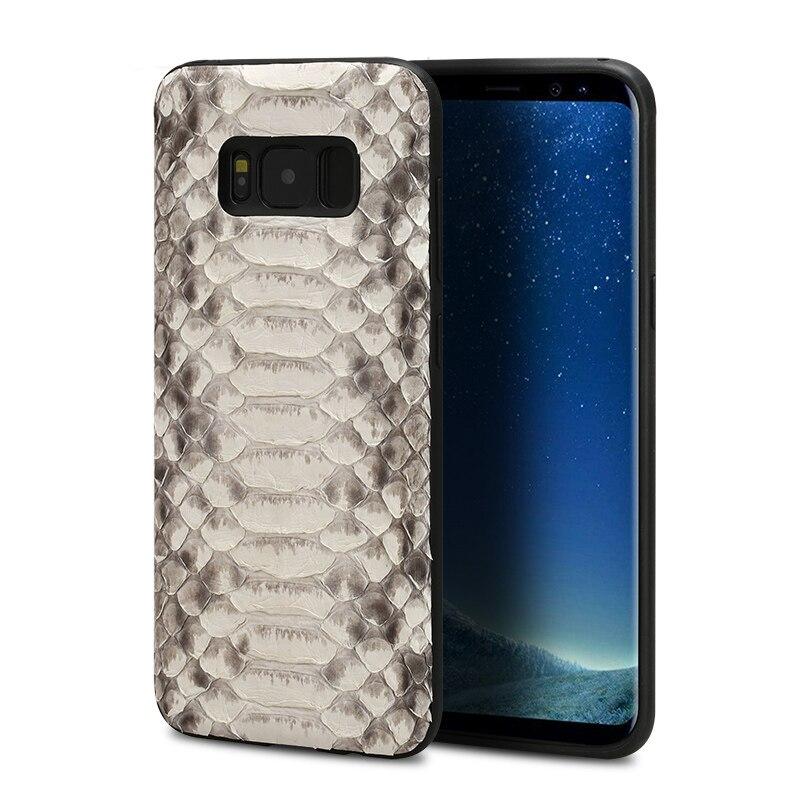 Python peau cas de téléphone pour samsung S8 TÉLÉPHONE cas de Luxe Véritable En Cuir Tout compris téléphone cas pour samsung series