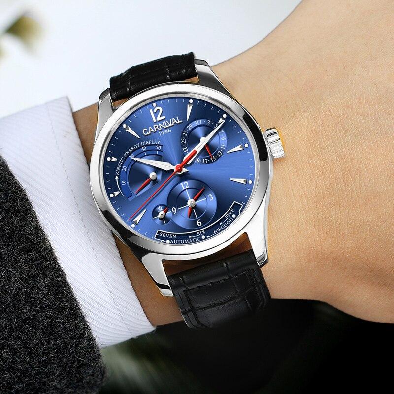 Corgeut de marca de lujo, relojes de pulsera mecánicos automáticos para hombre, de cuero, para nadar, para Deporte Militar - 5
