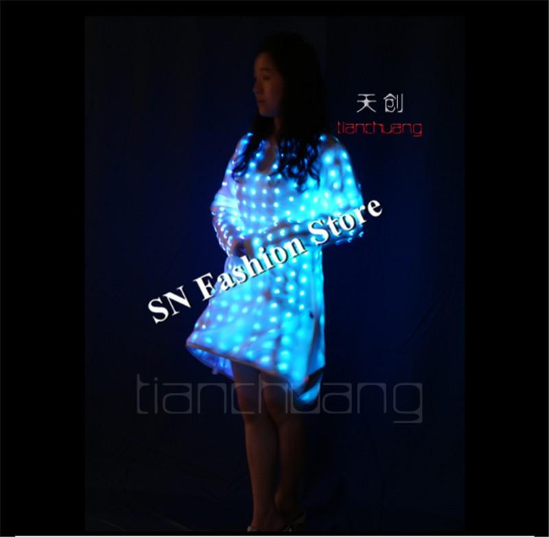 ec5d44ba US $1956.24 24% OFF|TC 117 LED światło kolorowe dj bar singer stage led  kobiety ubierają stroje taneczne balowej sexy nosi wybiegu Programowalny ...
