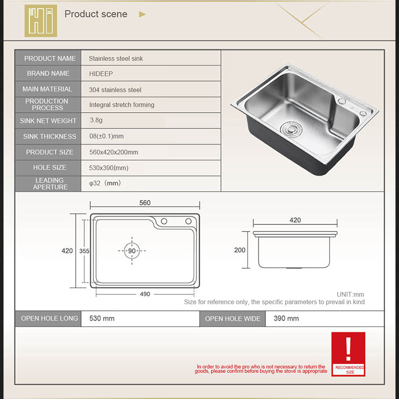 HIDEEP Stainless Steel Brushed Matte Kitchen Sink Drain Assembly ...