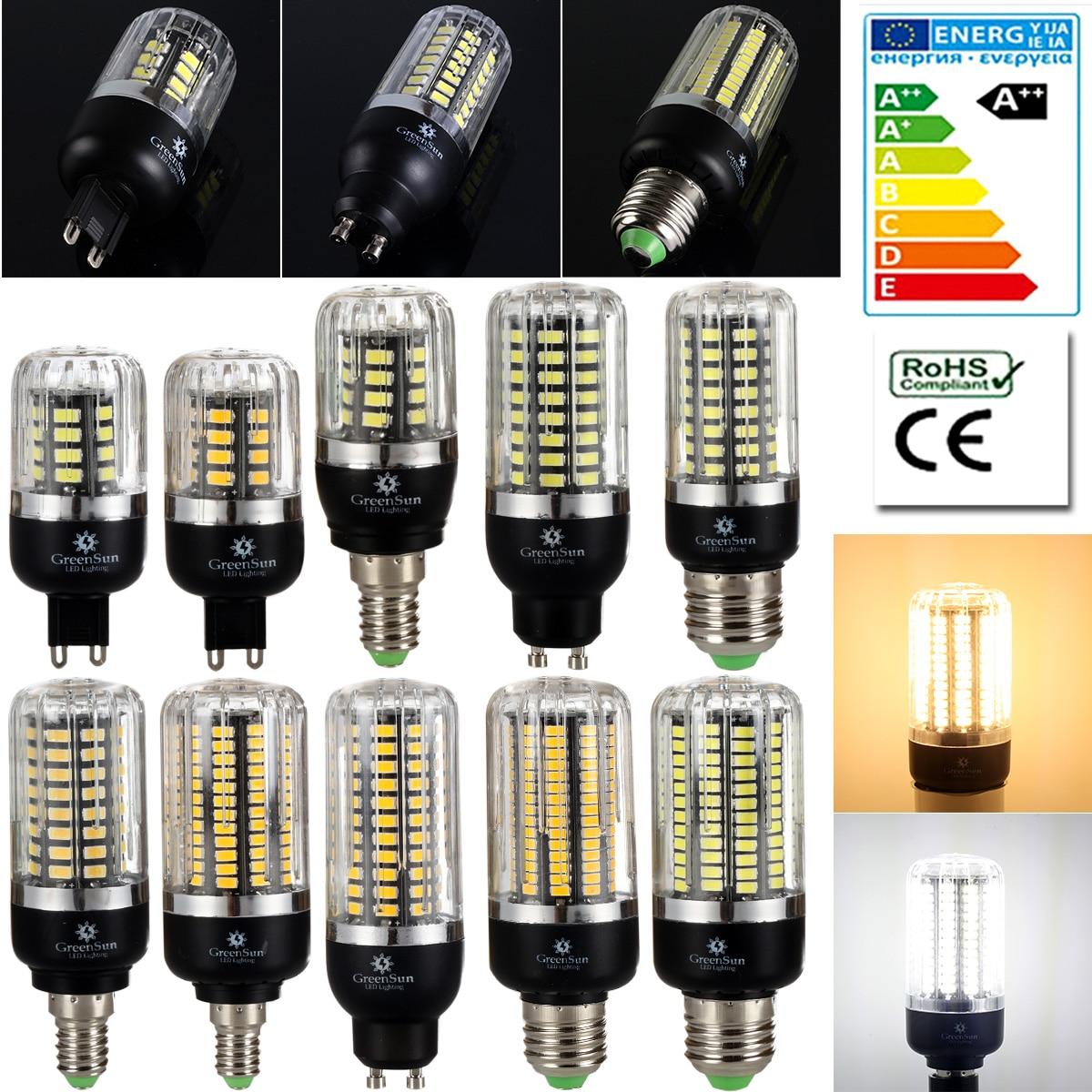 5736 SMD LED Corn Bulb Light E14 E27 G9 GU10 3W 5W 7W 9W 12W 15W LED Spot Light Lamp 220V Energy Saving vbs real wattage 25w 35w 45w led lamp corn bulb 110v 220v e27 aluminum fan cooling 5730 smd led spot light corn light bulb