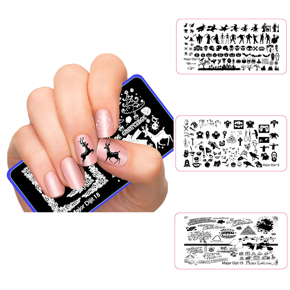 1PC Nail Stamping Plates Stencil Christmas 4 Styles DIY Nail Art Stencil Image Template Plates For Stamping Manicure Stamp Nails