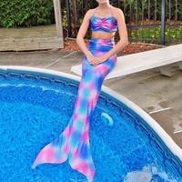 Two Piece Kids Girls Bikini Swimwear Sea Maid Fantasia Princess Beach Children Dress Fish Cosplay