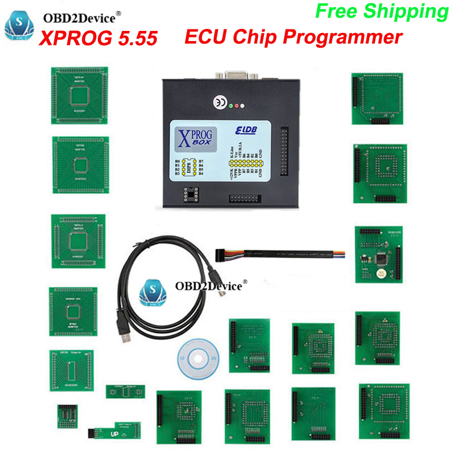 2017 Hot sale XPROG V5.55 ECU chip Programmer X PROG 5.55 ECU Chip Tunning kit X-PROG M Update for CAS4 Decryption free shipping good quality x prog m 5 0 free shipping