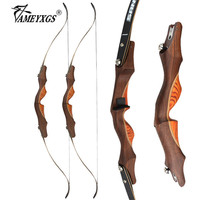 1set 60inch 30lbs Recurve Bow Takedown Longbow Traditional Wooden Bow Right Hand For Arrow Hunting Shooting Accessories
