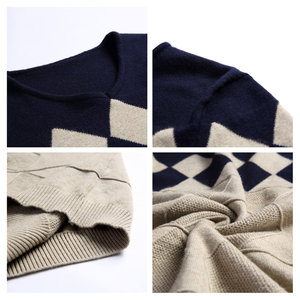 Image 5 - COODRONY Cashmere Wool Sweater Men 2020 Autumn Winter Slim Fit Pullovers Men Argyle Pattern V Neck Pull Homme Christmas Sweaters