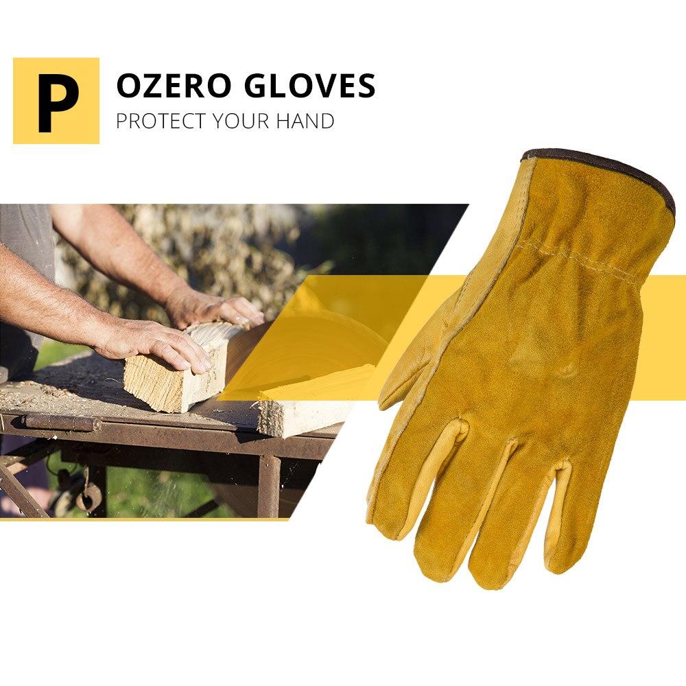 OZERO nuovi guanti da lavoro da uomo in pelle bovina Driver protezione di sicurezza indossare lavoratori di sicurezza saldatura guanti da Moto per uomo 1008