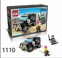 Enlightment 1110 City Series Riot Car Minifigure Building Block 185Pcs Bricks Toys Best Toys Compatible with Legoe